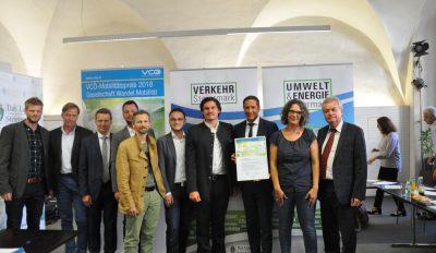VCÖ-Mobilitätspreis 2018 – Auszeichnungen